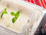 Йогурт крем десерт от кисело мляко, сусамов тахан и подсладител
